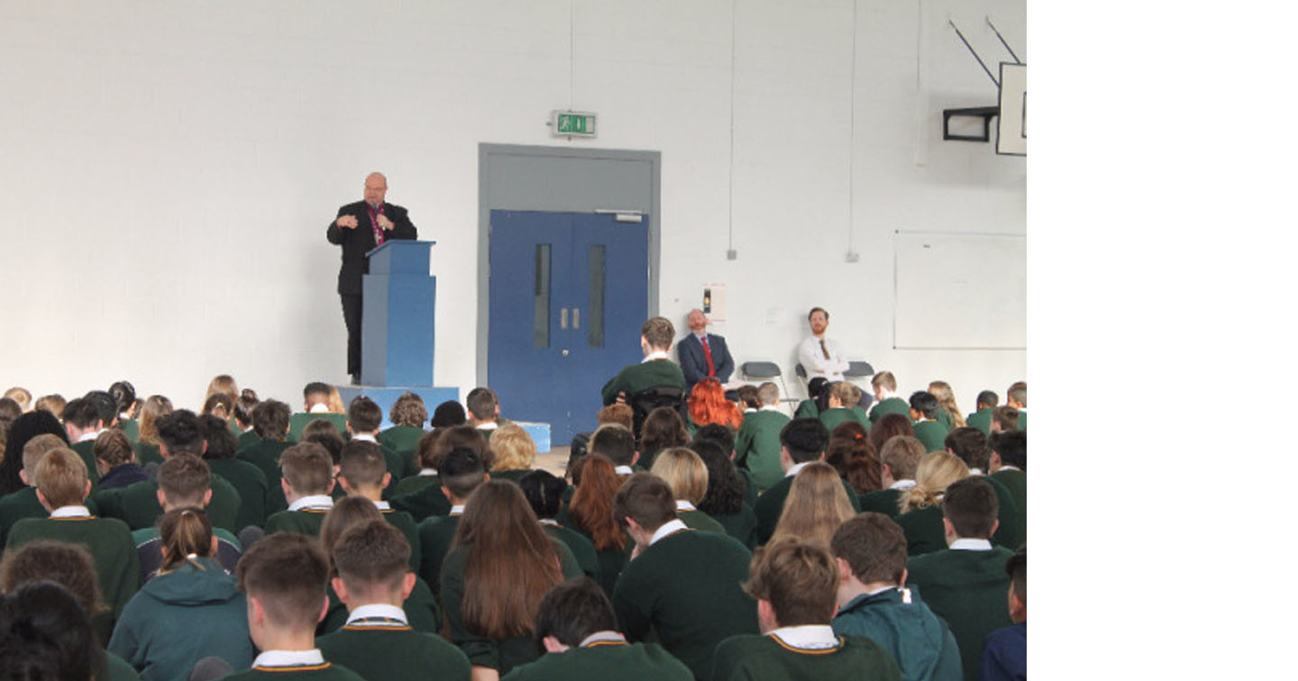 how to start news in school assembly
