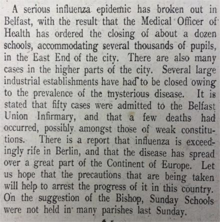 Pandemic in Ireland One Hundred Years Ago Through the Lens of the Church of Ireland Gazette