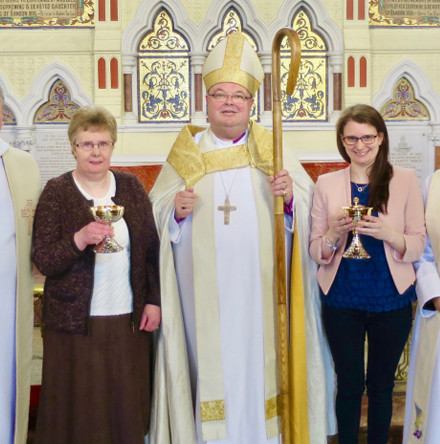 New chalice and ciborium consecrated in Saint Peter's Church, Bandon