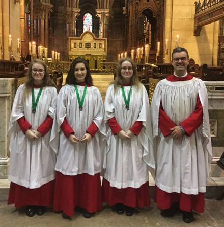 Royal School of Church Music awards for choristers of St Fin Barre's Cathedral, Cork