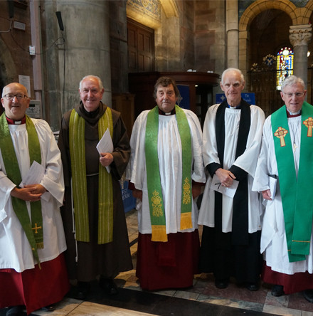 Celebrating the Class of '67 at special Service in St Anne's