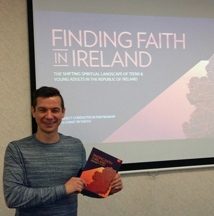 Jasper Rutherford gives presentation on 'Finding Faith in Ireland' Barna Report to the Church's Central Communications Board
