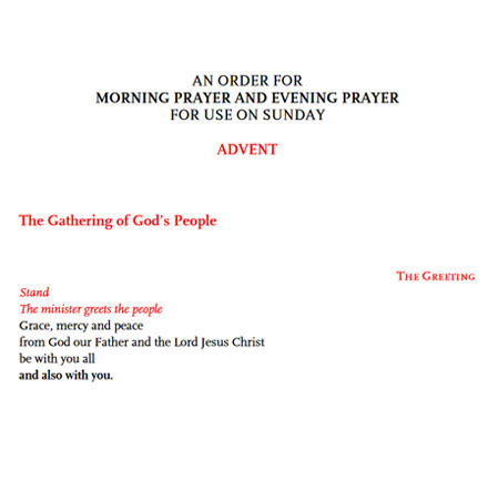 Seasonal Service of Morning and Evening Prayer now live on the Church of Ireland website
