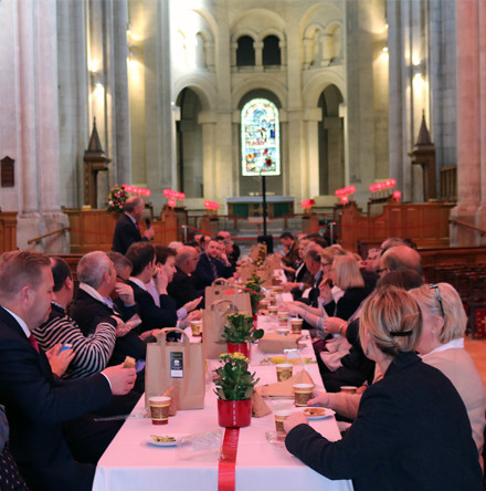 Successful business networking event at Belfast Cathedral