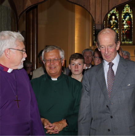 HRH The Duke of Kent visits Down Cathedral