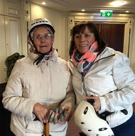 MU member Sheila completes 80th birthday abseil