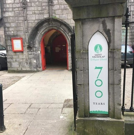 Seven minutes' bells at 7pm for 7 nights at St Nicholas, Galway