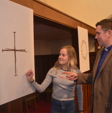 Christ's passion reflected in Holy Week paintings by teenage Omagh parishioner