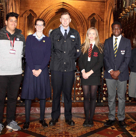Second Level Schools Service sees students urged to promote peace