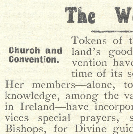 'Good Wishes for the Great Adventure': The Church of Ireland & the Irish Convention, 1917