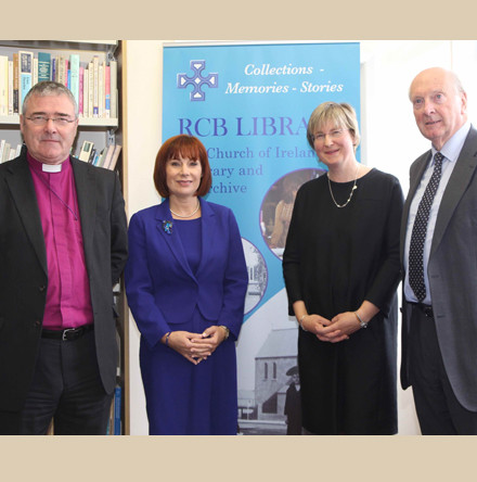 Ministerial visit to RCB Library - €100,000 grant supports digitisation of Church of Ireland parish registers