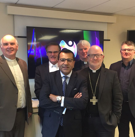 Church Leaders meet with BBC Religion Editor on visit to Belfast