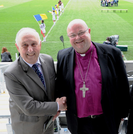 Bishop Paul and Mrs Susan Colton guests at new Páirc Uí Chaoimh