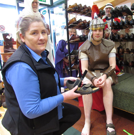 Enniskillen shoe shop comes to rescue of 'Roman centurion' who had no sandals to wear for exhibition