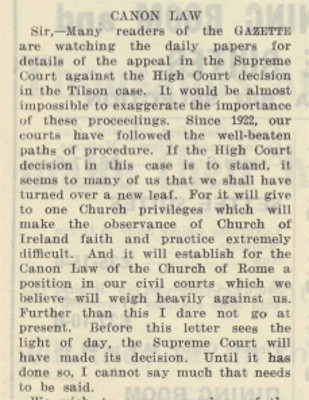 Church of Ireland Gazette 4 August 1950