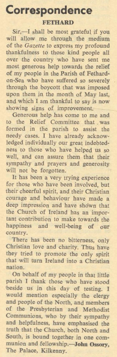 Church of Ireland Gazette 15 November 1957