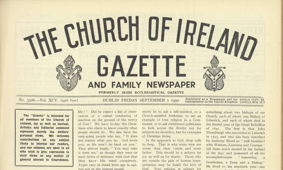 Church of Ireland Gazette 1 September 1950