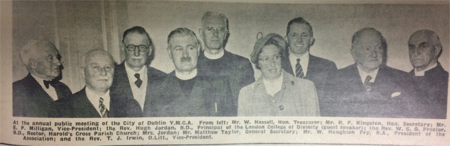 The annual public meeting of the Dublin YMCA, published on 18 April 1957