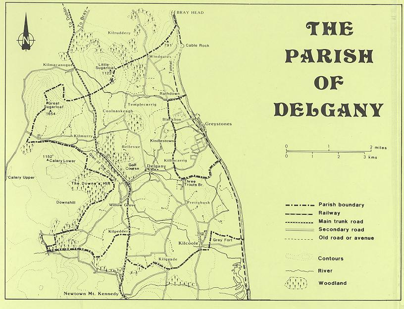 Map of Delany Parish