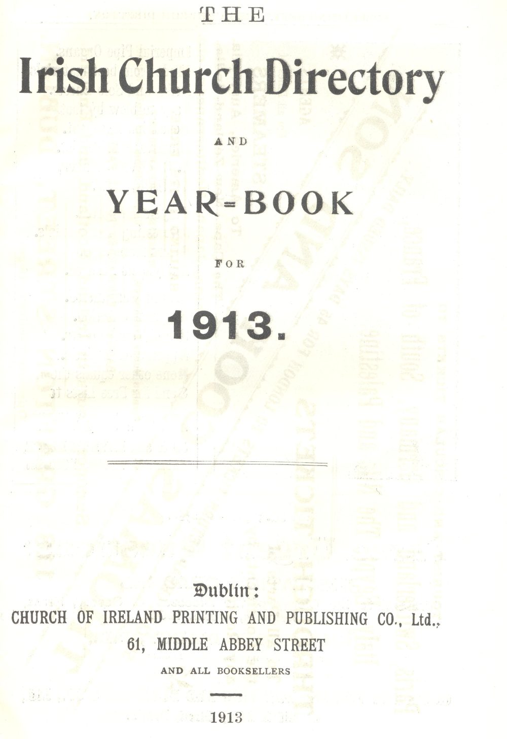 Title page of the Directory for 1913
