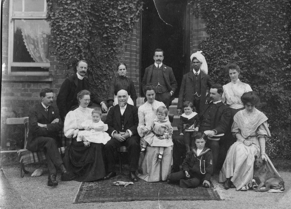 The Wilson family pictured at Malone Manse, Belfast, in the summer of 1906. As there is no professional photographer's stamp on the picture, it could well have been taken by David Brown. From a private family collection, courtesy of Mr Tony Irwin, Dungannon, County Tyrone.