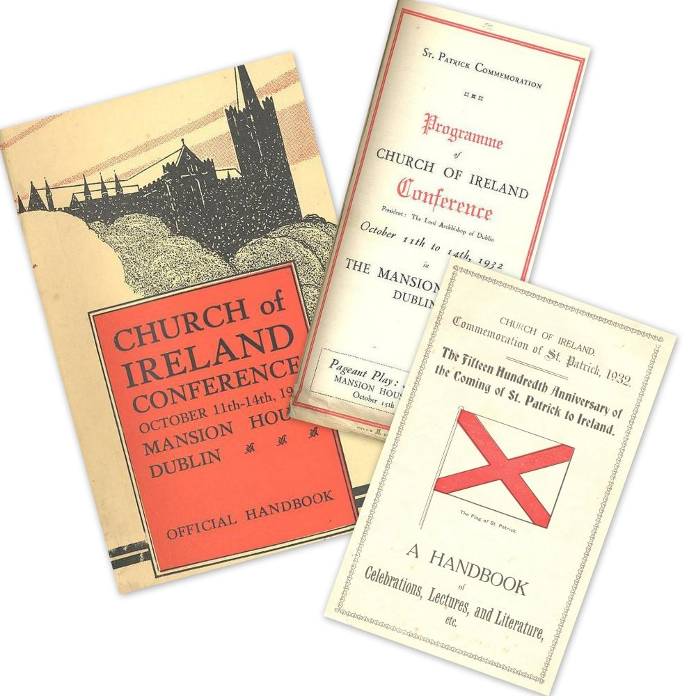 A selection of the literature produced by the Church of Ireland for the 1932 commemoration