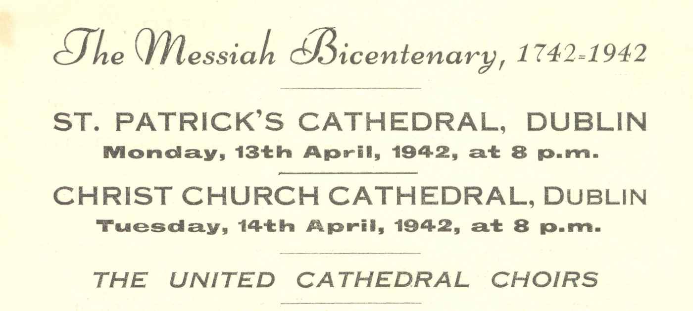 St Patrick's cathedral, orders of service