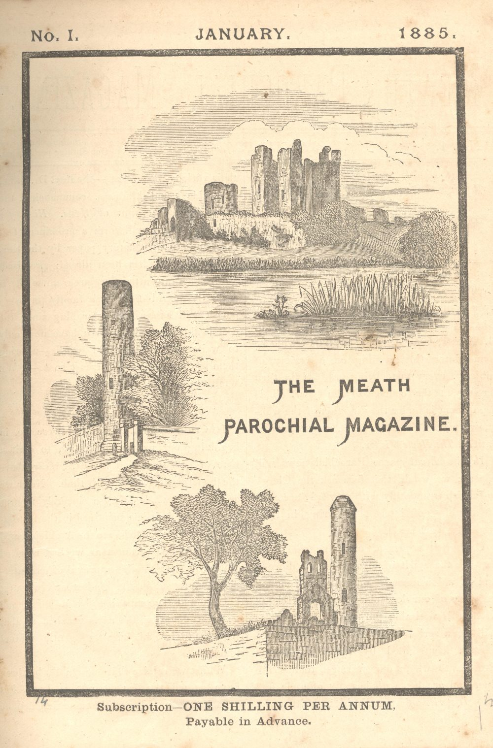 First volume of the Meath Parochial Magazine, 1885, RCB Library D7/17/1.1