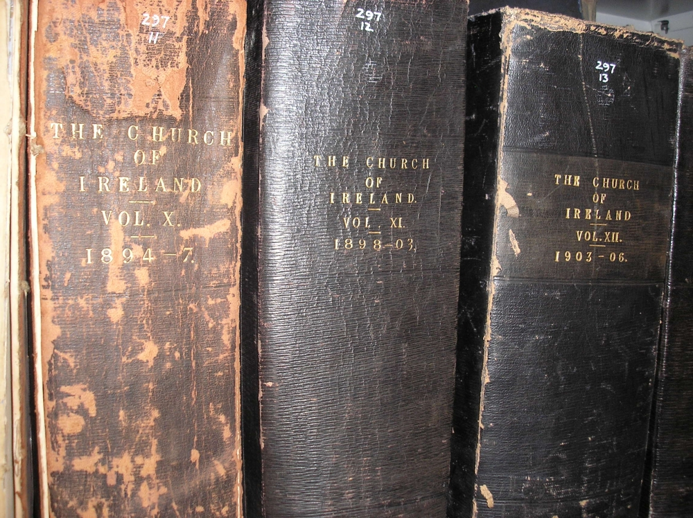 Items from the Walsh press cutting collection, as shelved, in RCB Library.