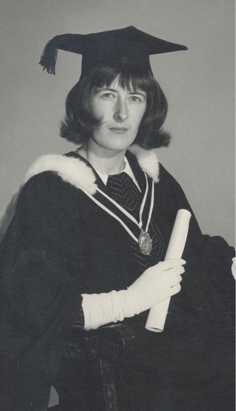 Patricia H. Ledbetter on her graduation day, October 1967, image supplied by Patricia H. Smyth