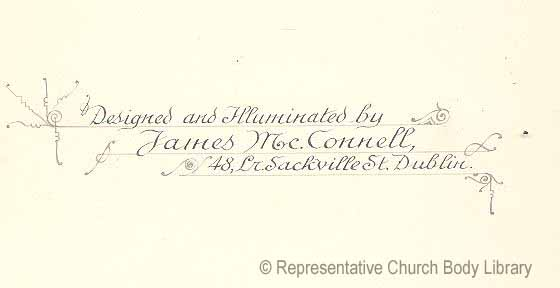 Signature of James McConnell heraldic artist