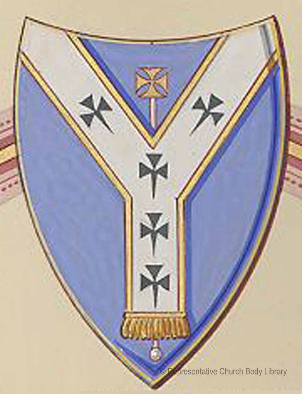 The coat of arms of the diocese of Dublin
