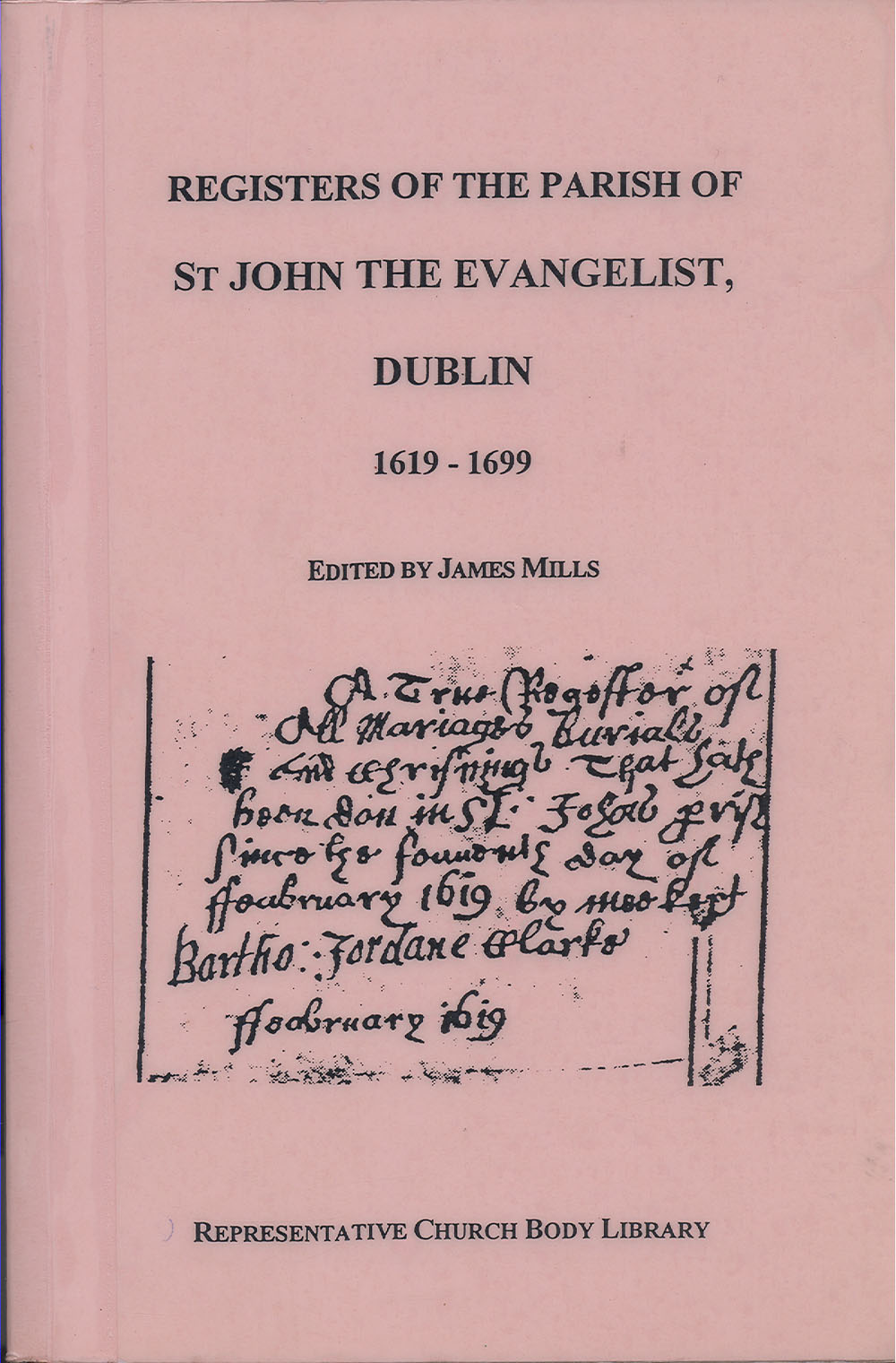 Register of St John the Evangelist parish 1619-1699