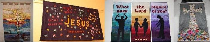 A selection of Banners hanging in various churches in Down & Dromore