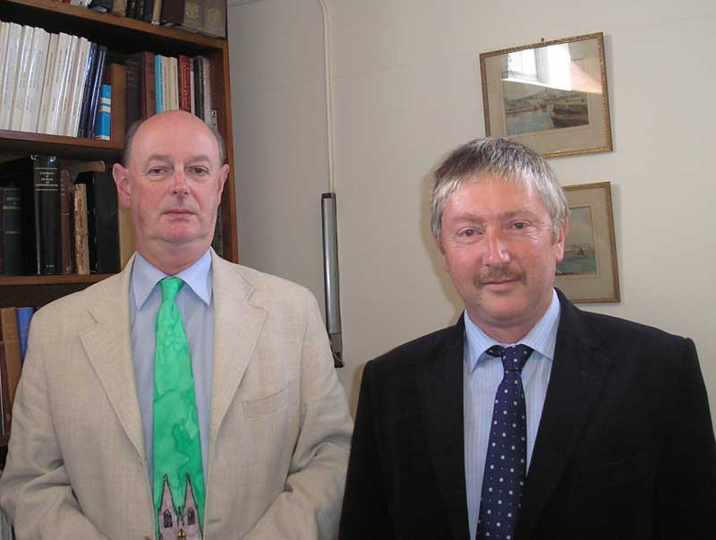 Dr Raymond Refausse and Dr Micheal O'Neill