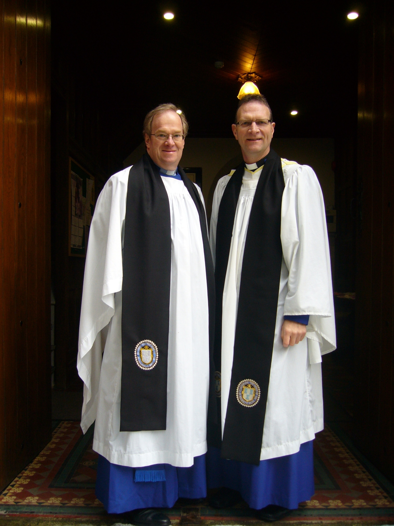 Canon Arthur Barrett pictured with Dean Kenny Hall