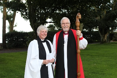 Revd Sue Bell & Bishop Harold