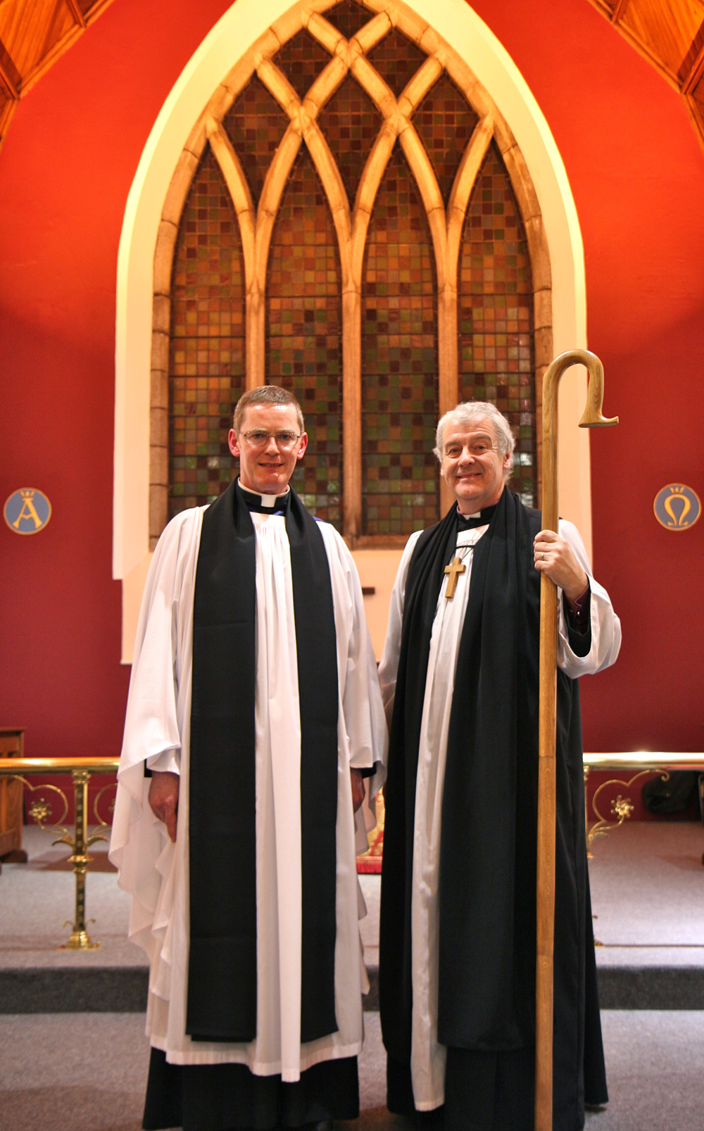Canon Mark Gardner and Archbishop Michael Jackson.