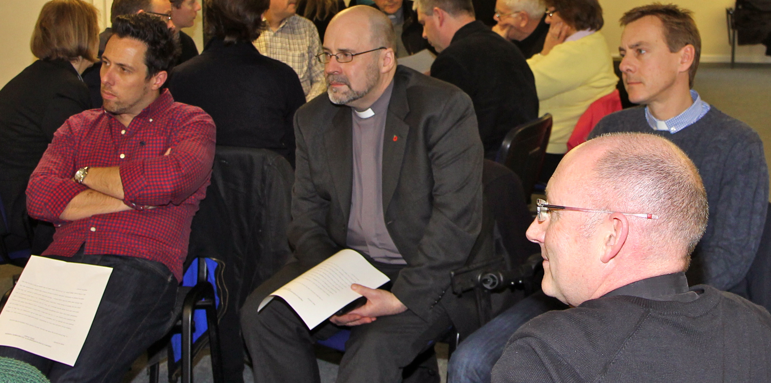 Clergy at diocesan development day for Dublin & Glendalough