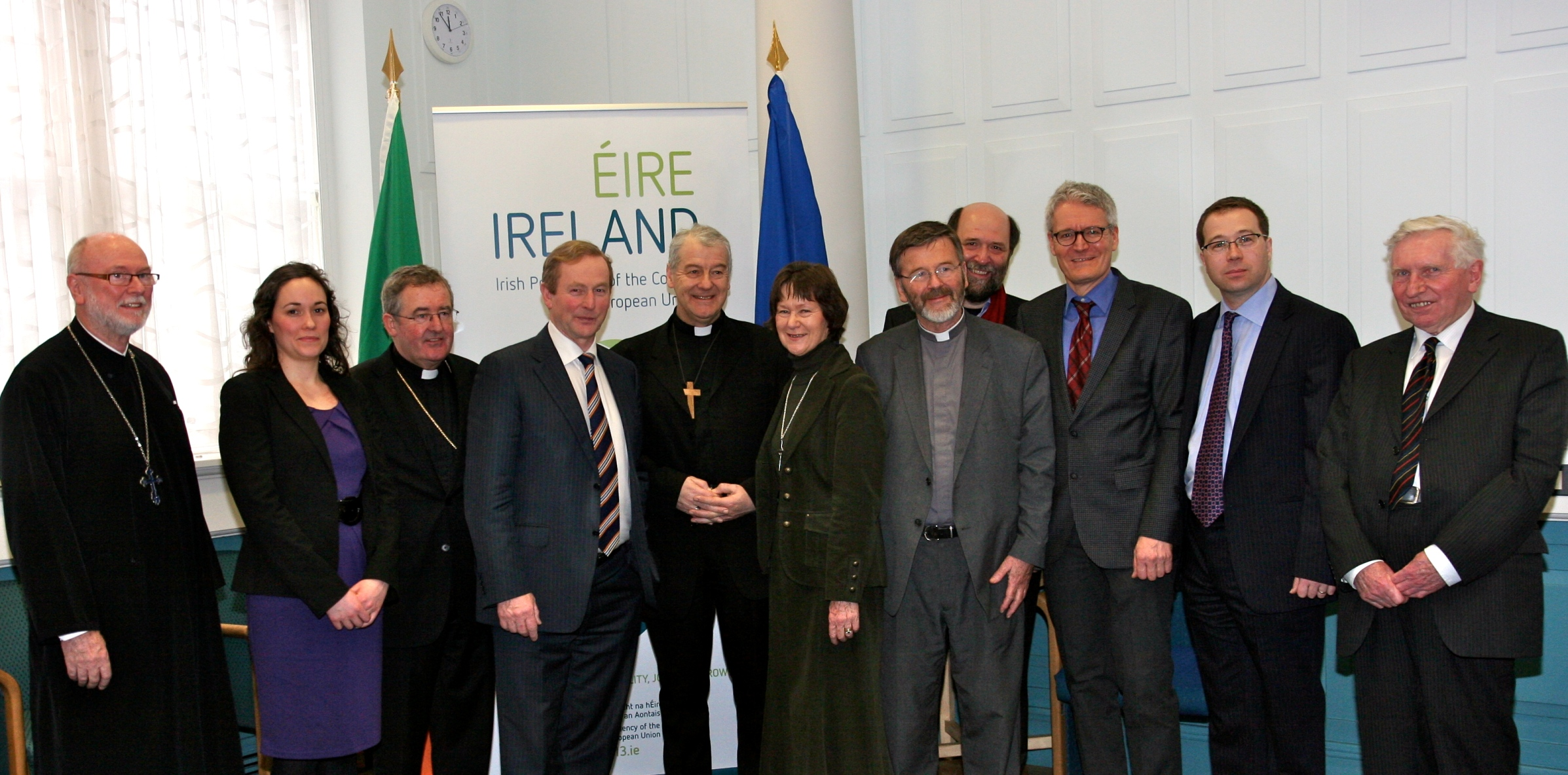 Irish and European Church Leaders with An Taoiseach