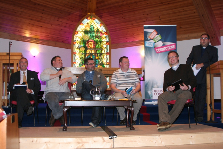 The panel interviewed at Connor Diocesan Synod.