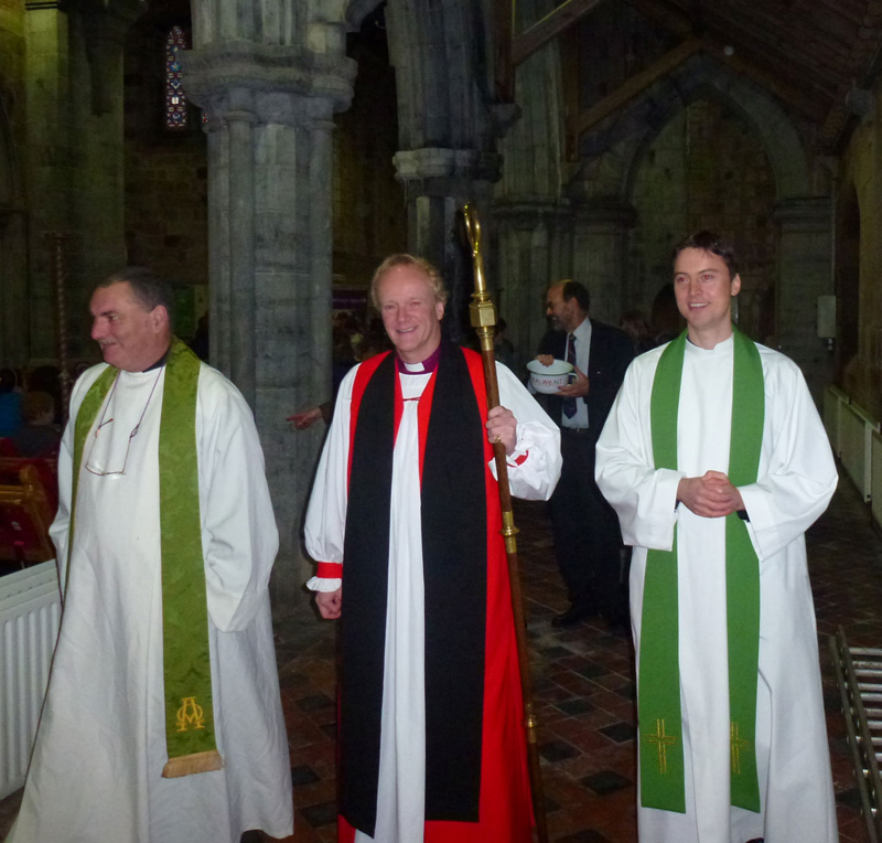 Bishop Rooke, Revd John Godfrey and Dean Alistair Grimason go 'Potty Walking'