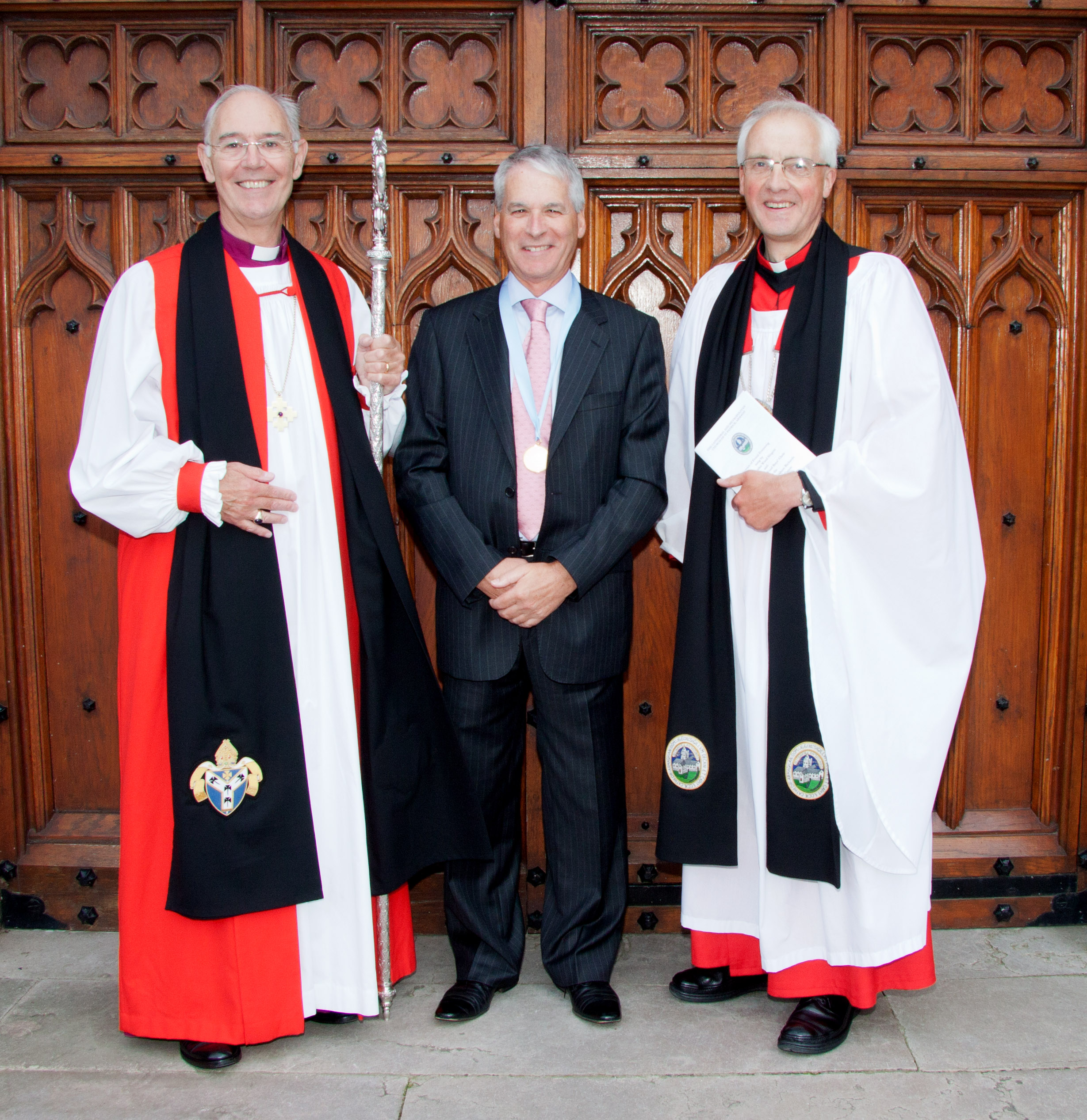 Archbishop Harper, Mr Graham Richards and Dean Dunstan
