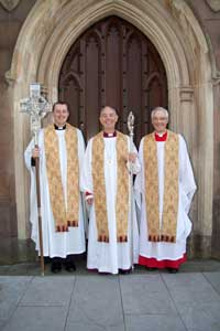 Rev Shane Forster, Archbishop Harper, Very Revd Gregory Dunstan