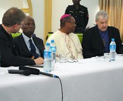 Archbishop Jackson with the delegation to Nigeria, May 2012