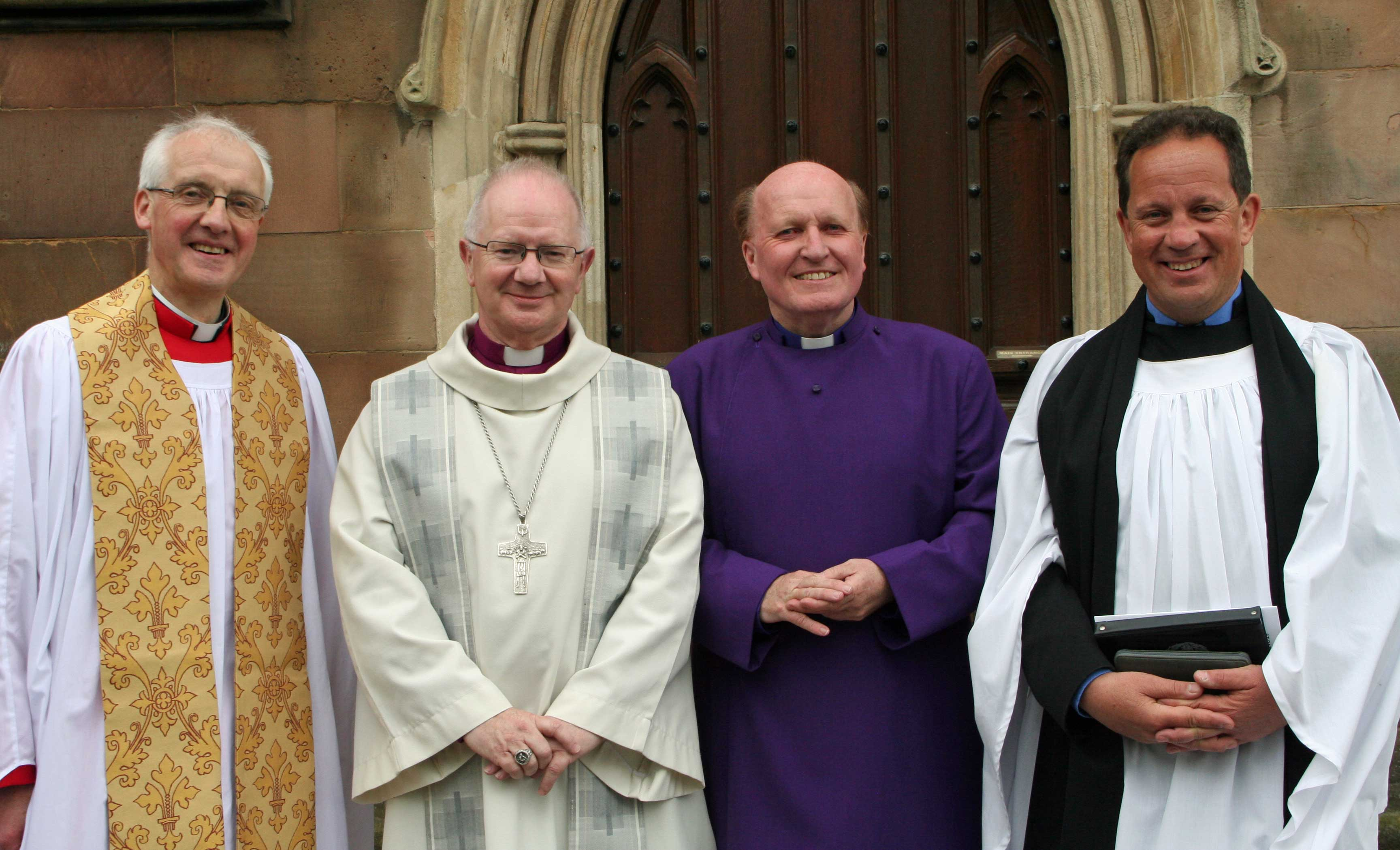Clergy before the service