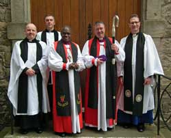 Archbishop of York with Clogher clergy at IF service