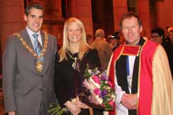 Lord Mayor, Lady Mayoress and Dean of Belfast