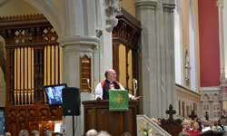 Bishop Glenfield preaching at Enthronement