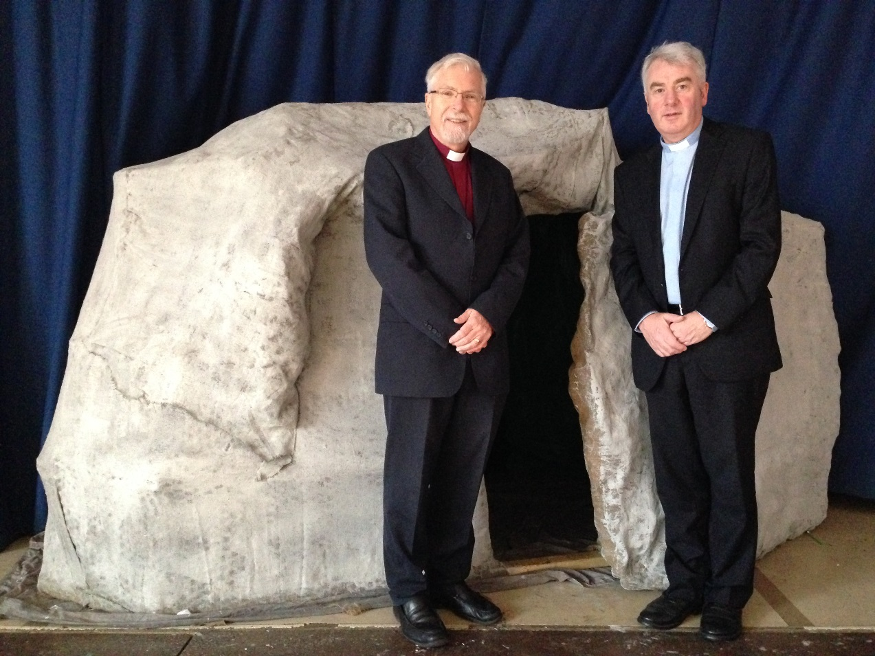 Bishop Miller & Archdeacon McClay at tomb